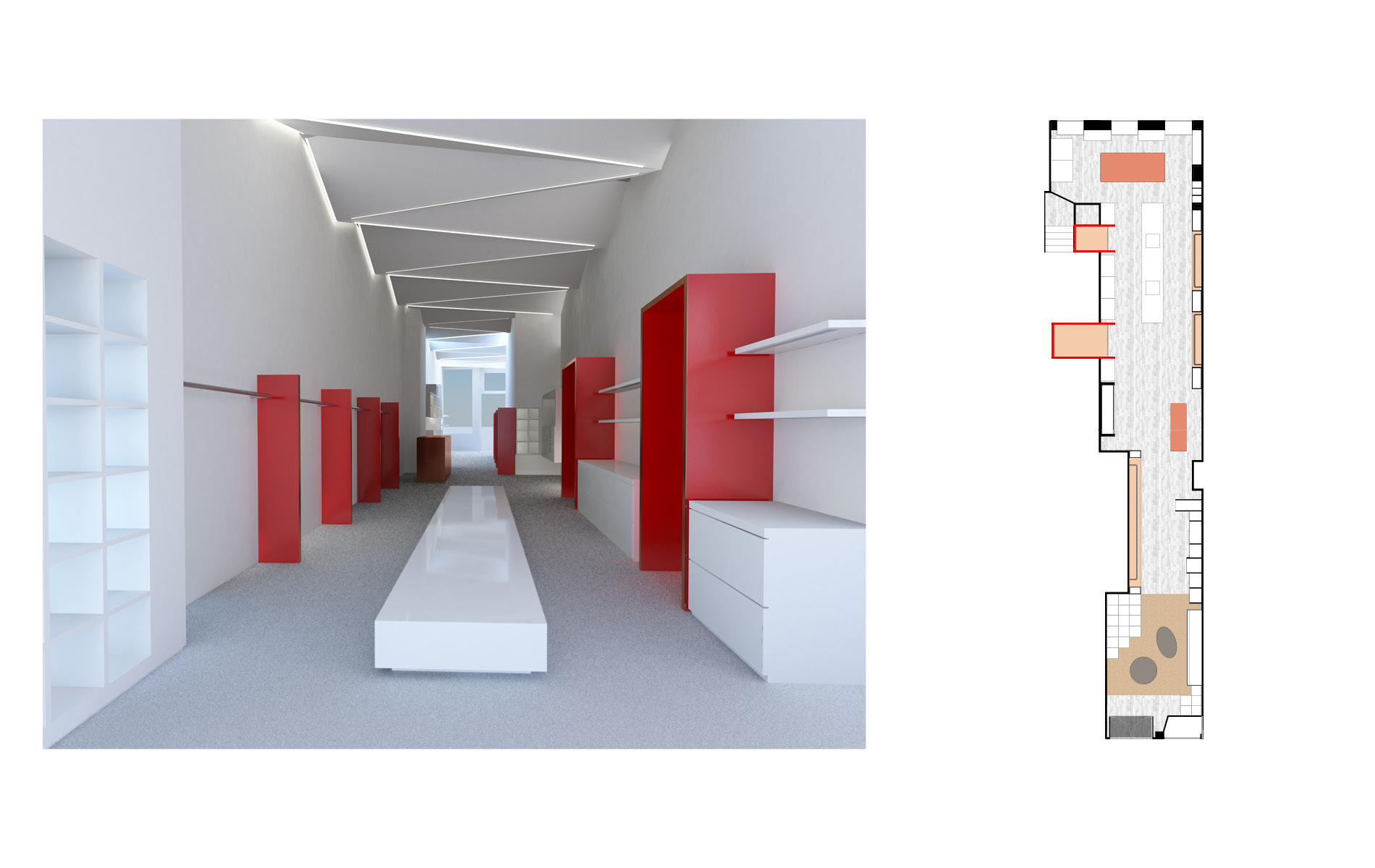 Showroom design as brand experience by DTE for client