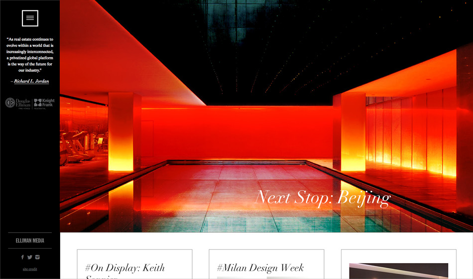 Location in Beijing featured on Douglas Elliman Real Estate and Knight Frank Residential's partnership on Tumblr.