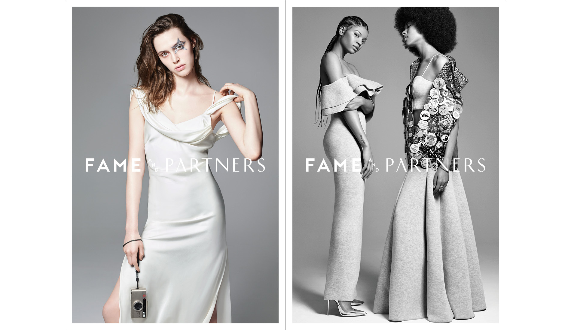 Models for Fame and Partners social and out of home campaign with creative direction by DTE Studio