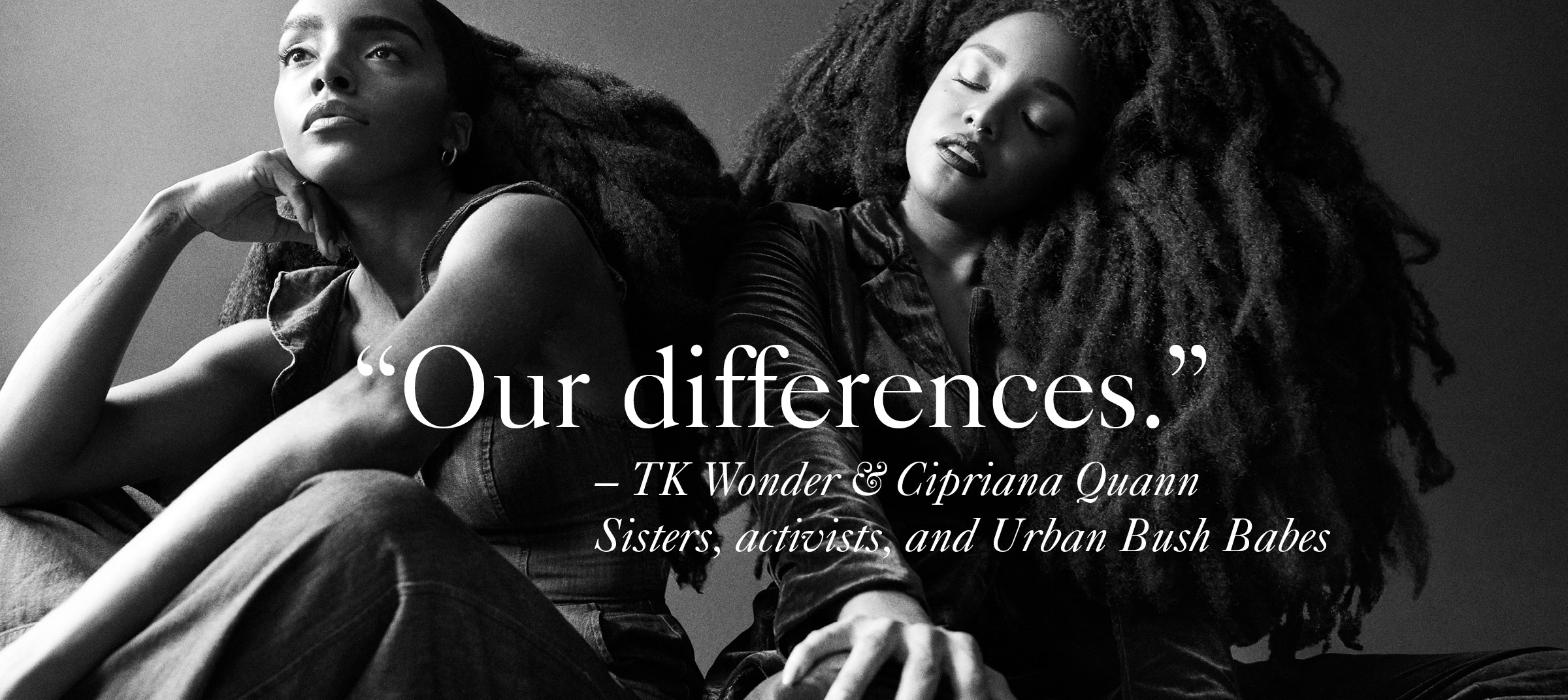TK Wonder and Cipriana Quann shot by Michael Avedon for unique collaboration on Masthead Magazine's online platform.