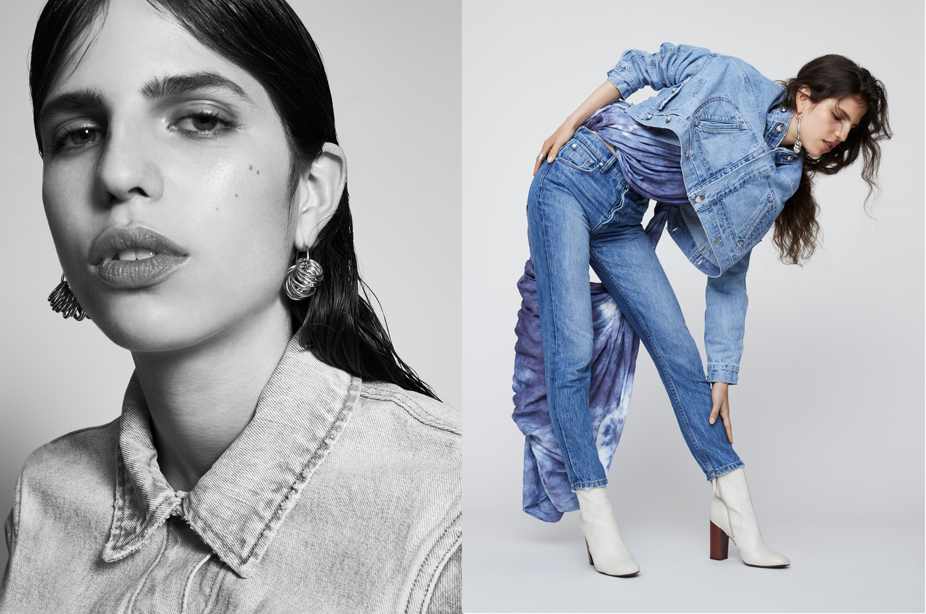 Derek Lam photoshoot for their denim collection.