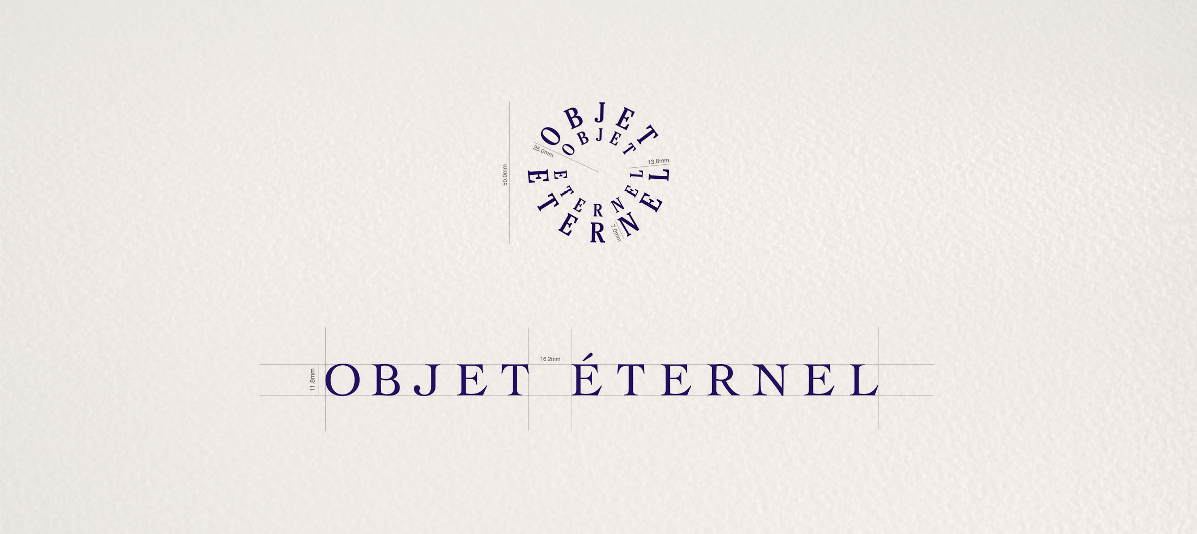 Objet Éternel logo and brand identity created by DTE