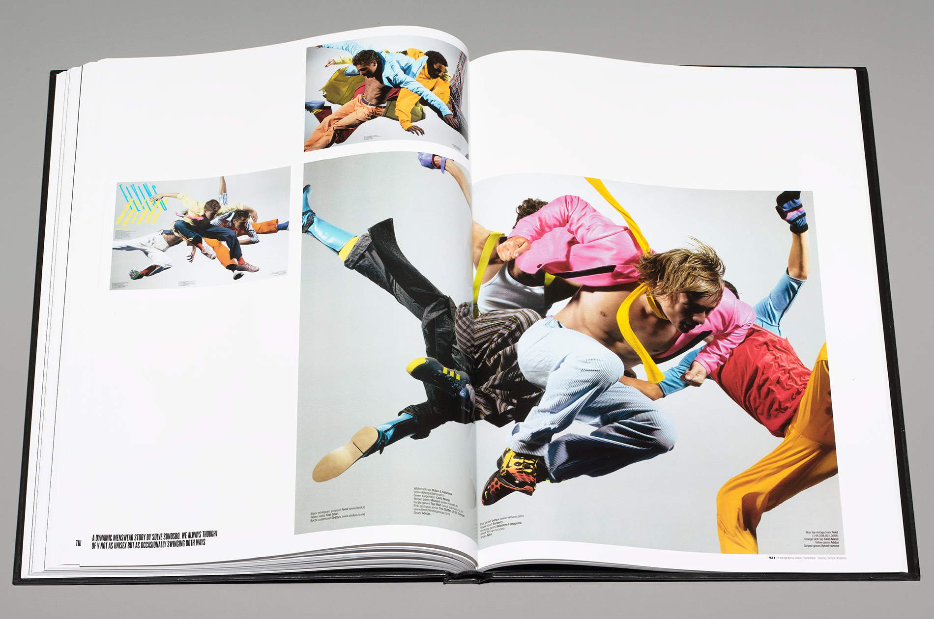 A page in Best of V for V Magazine designed by DTE Studio