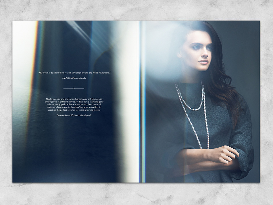 DTE Studio designed and managed the production and lookbook for Mikimoto.