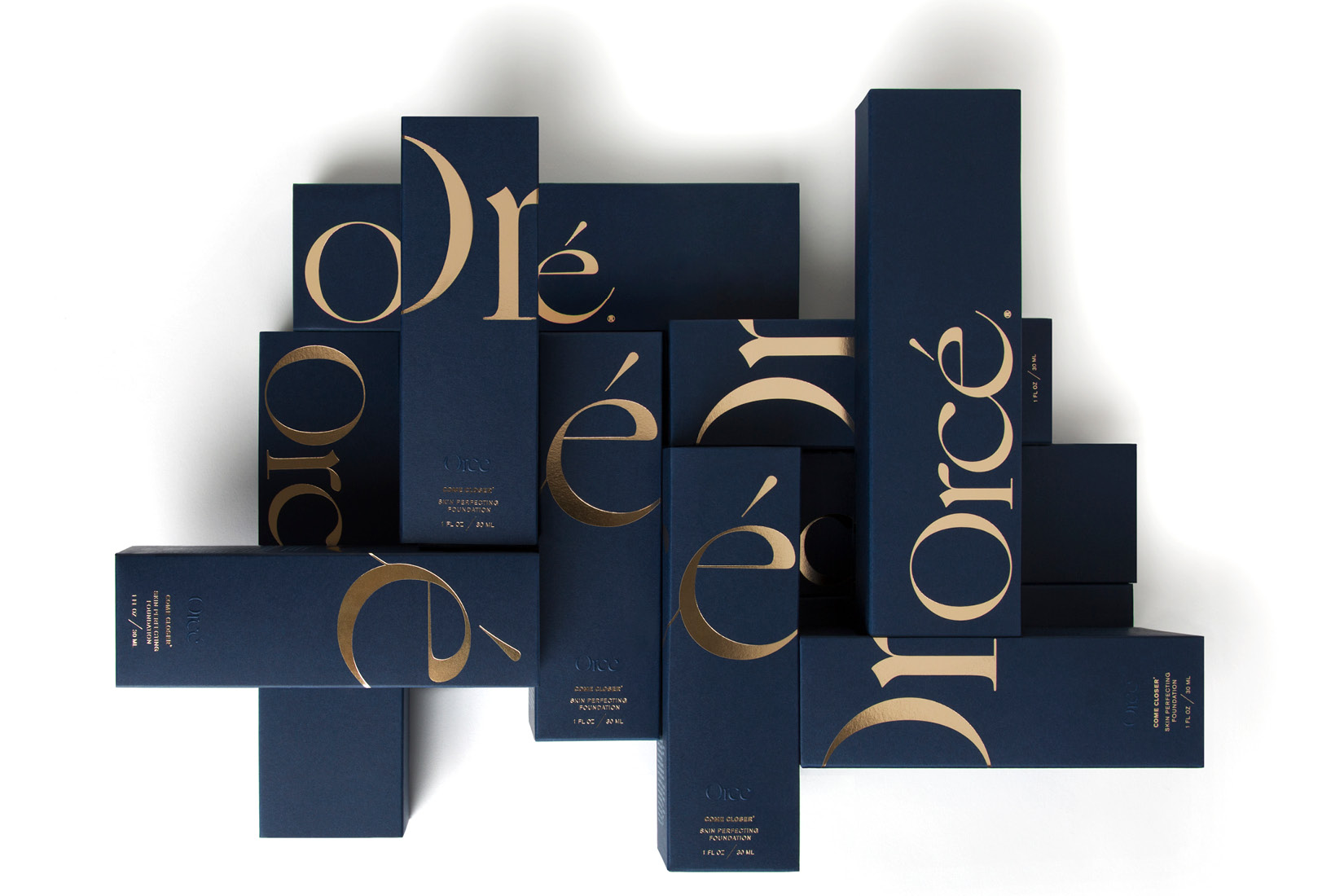 Selection of shades of Orce's foundations.