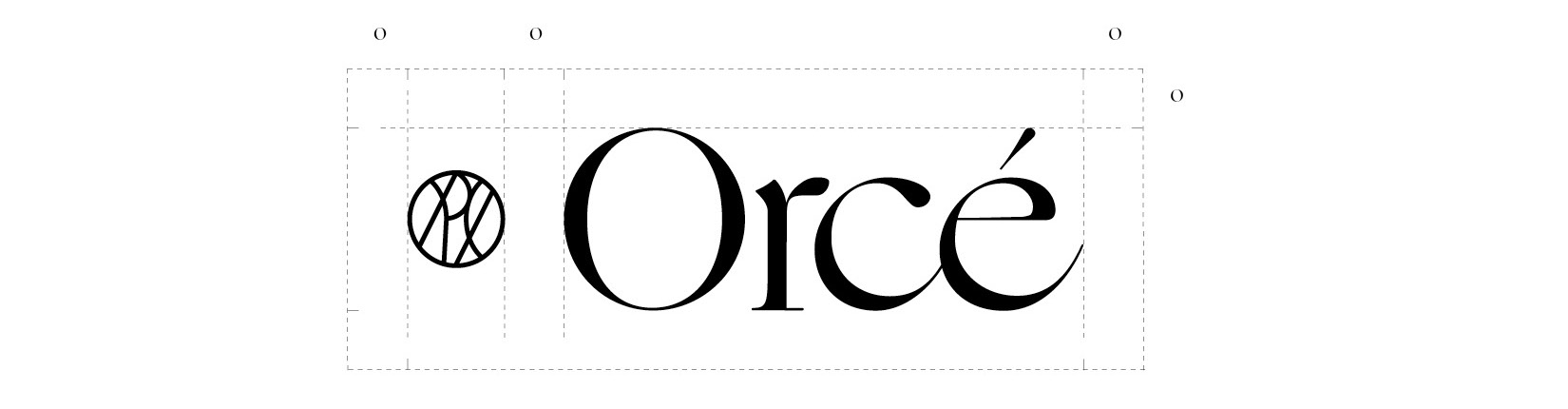 Orce cosmetics brand, logo created and designed by DTE Studio.