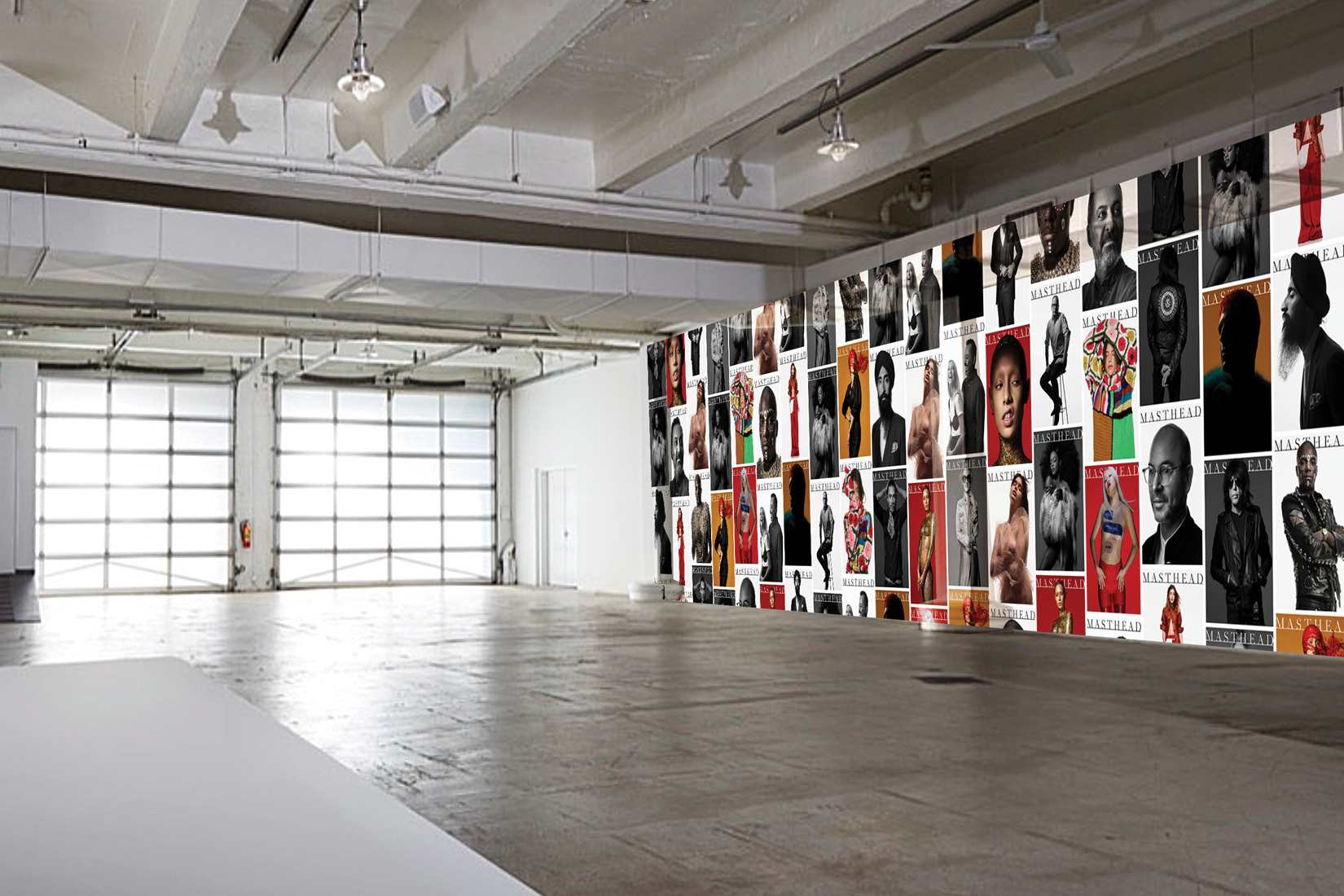 Retail experience in a warehouse created by DTE Studio.