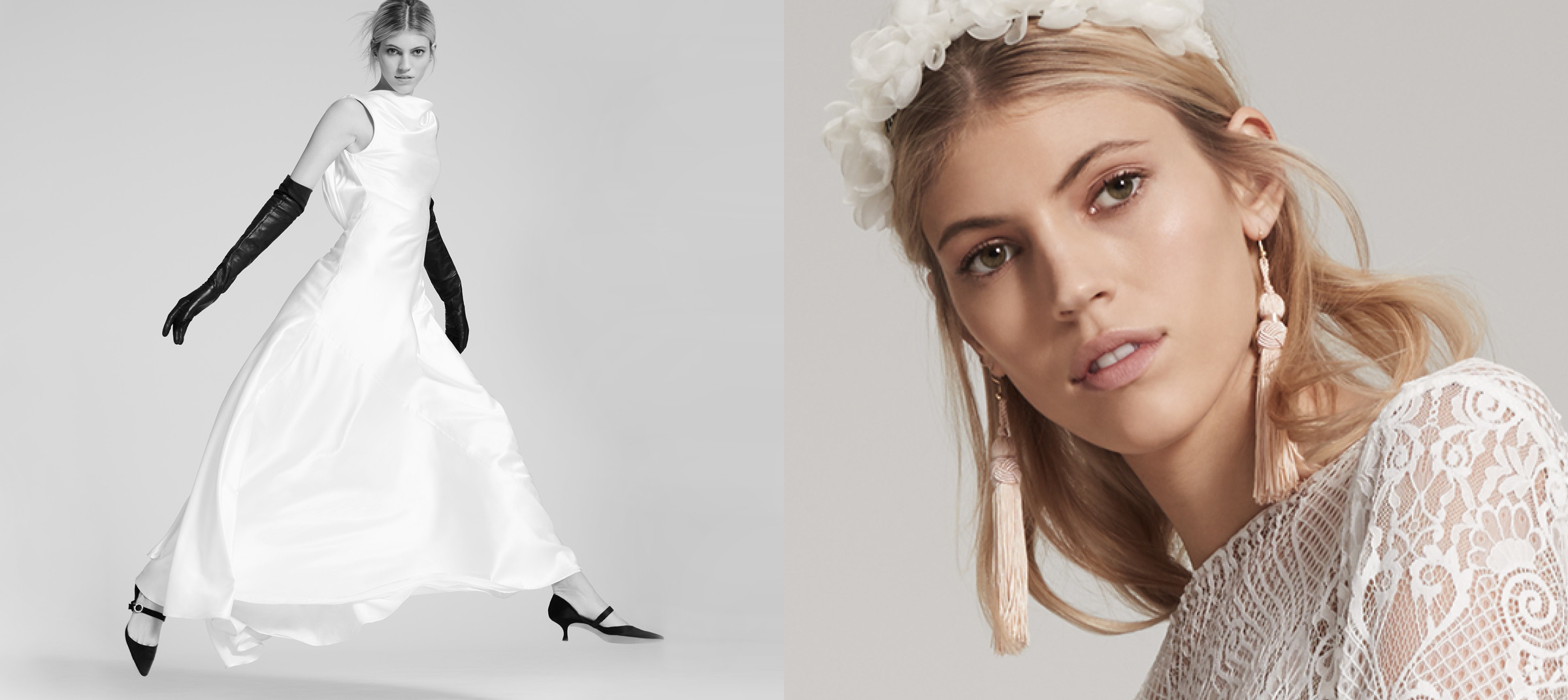 Bridal photoshoot and portrait for Fame & Partners with creative direction and produced by DTE Studio
