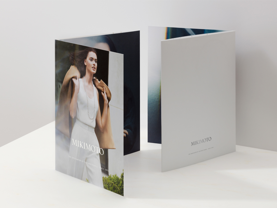 Lookbook created by DTE studio to showcase Mikimoto's new collection.