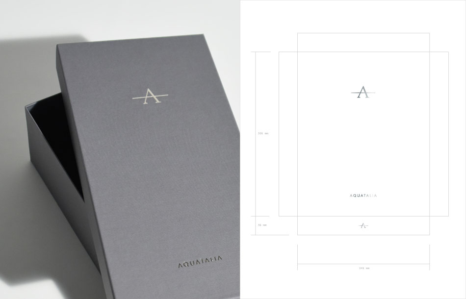 New packaging for Aquatalia designed by DTE Studio.