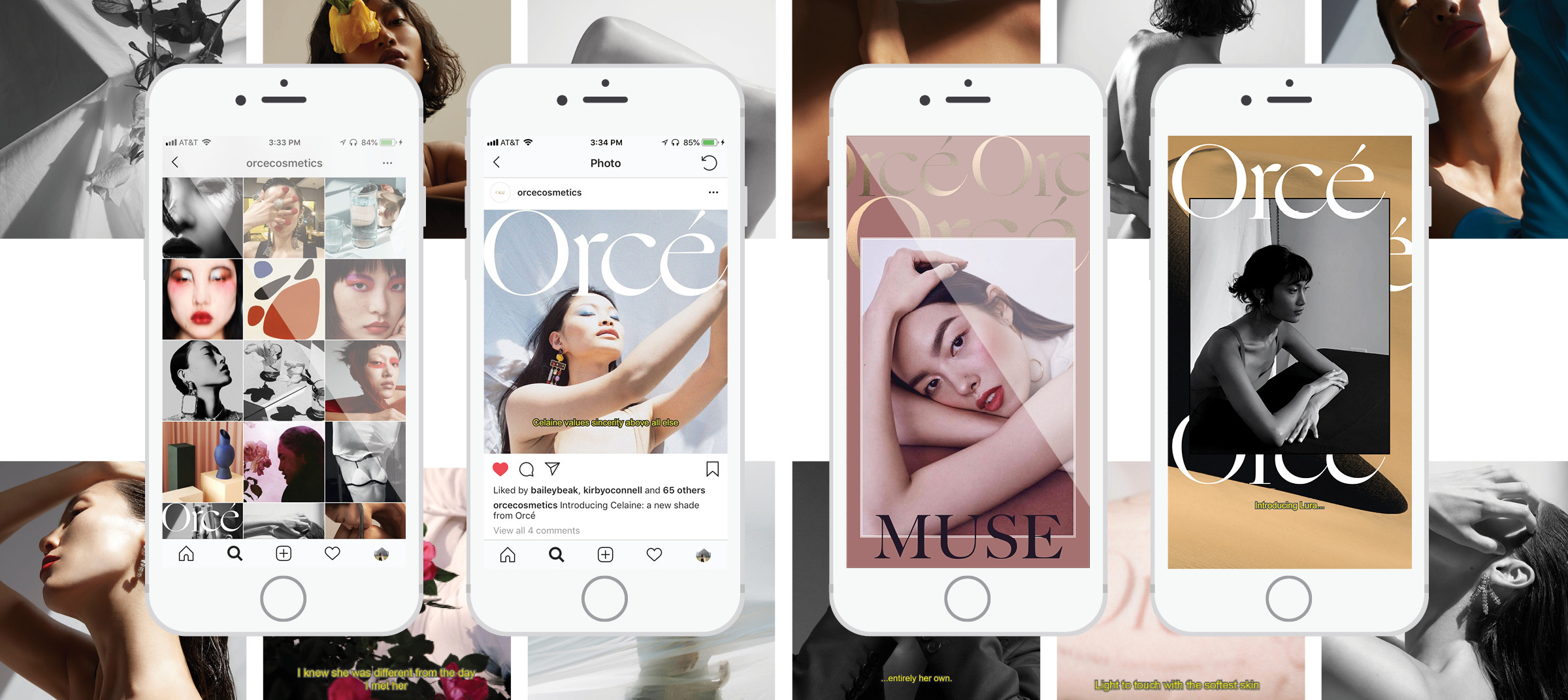 Orcé's social media campaign displayed on phone screen