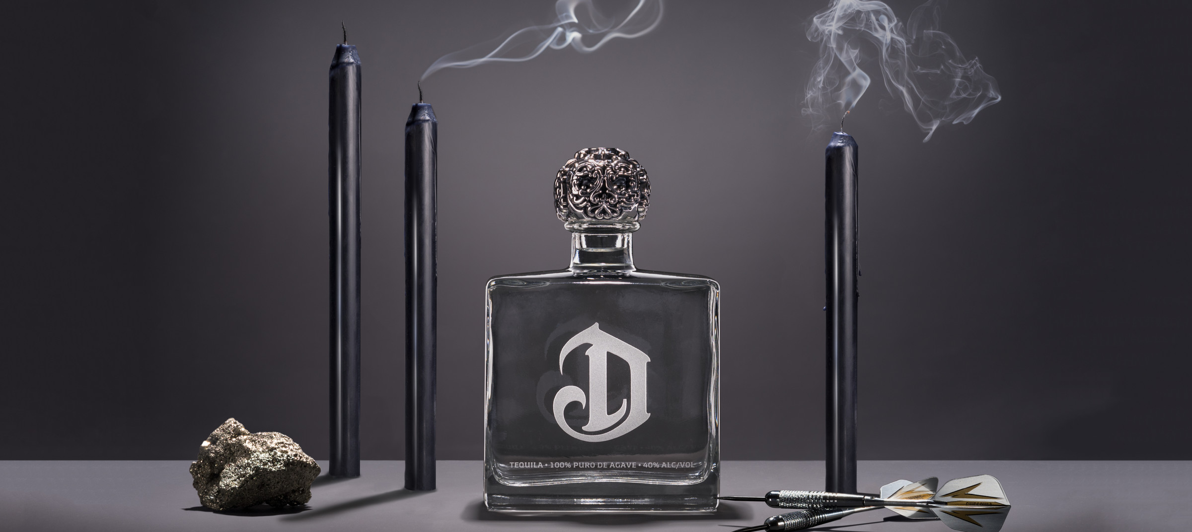 DeLeon Tequila still life product shoot by DTE Studio