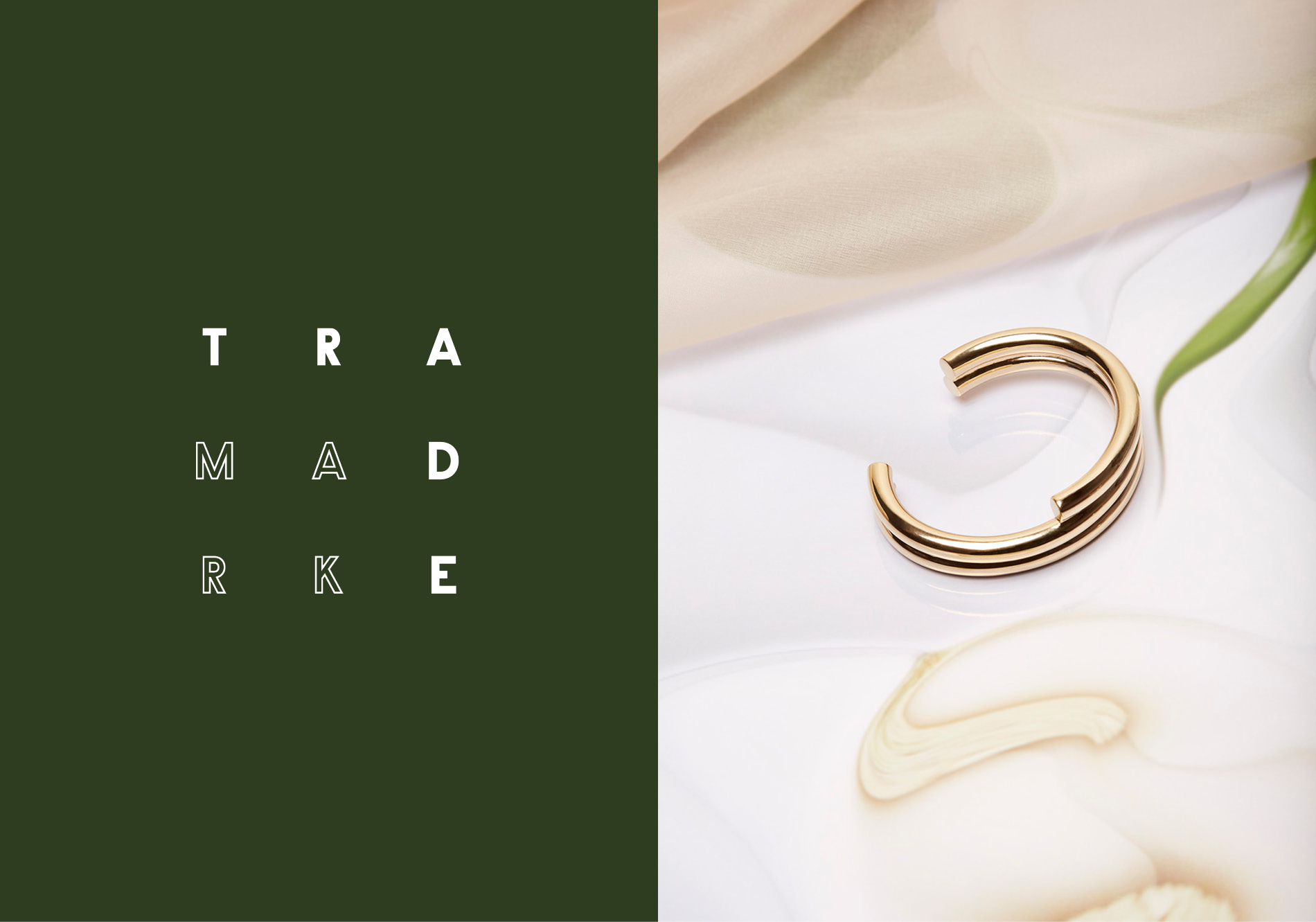 Still life shot of Trademark's jewelry line produced and shot by DTE.