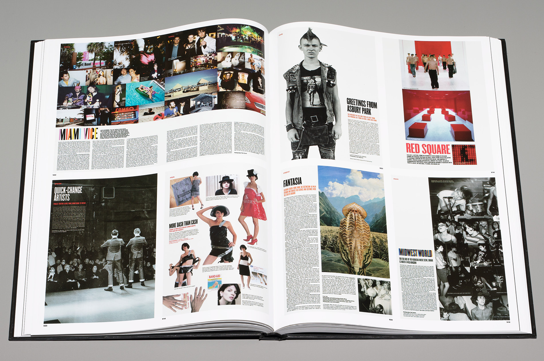 A compilation of the best stories and features for V Magazine's Best of V book designed by DTE