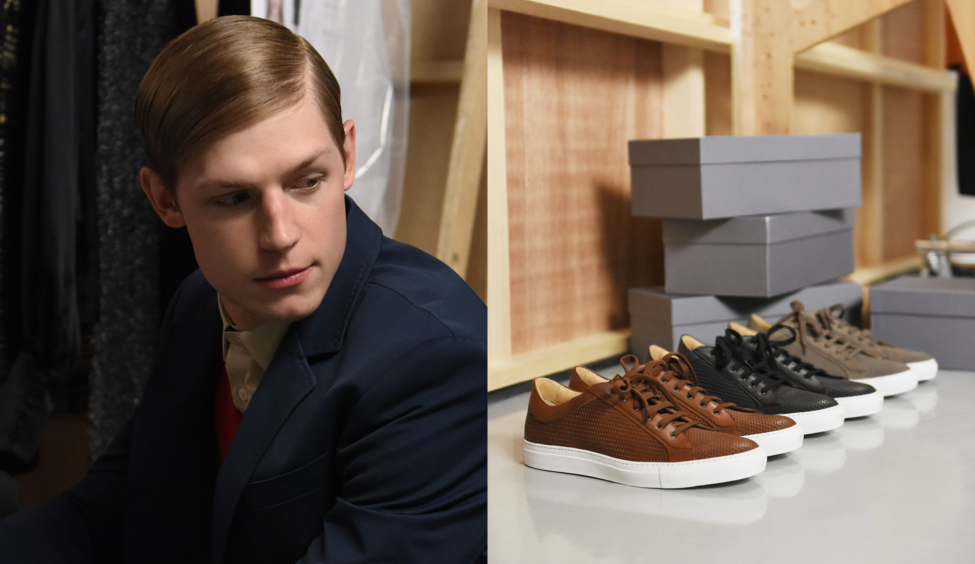 Shot of model and Aquatalia shoes for #MyAquatalia created by DTE Studio