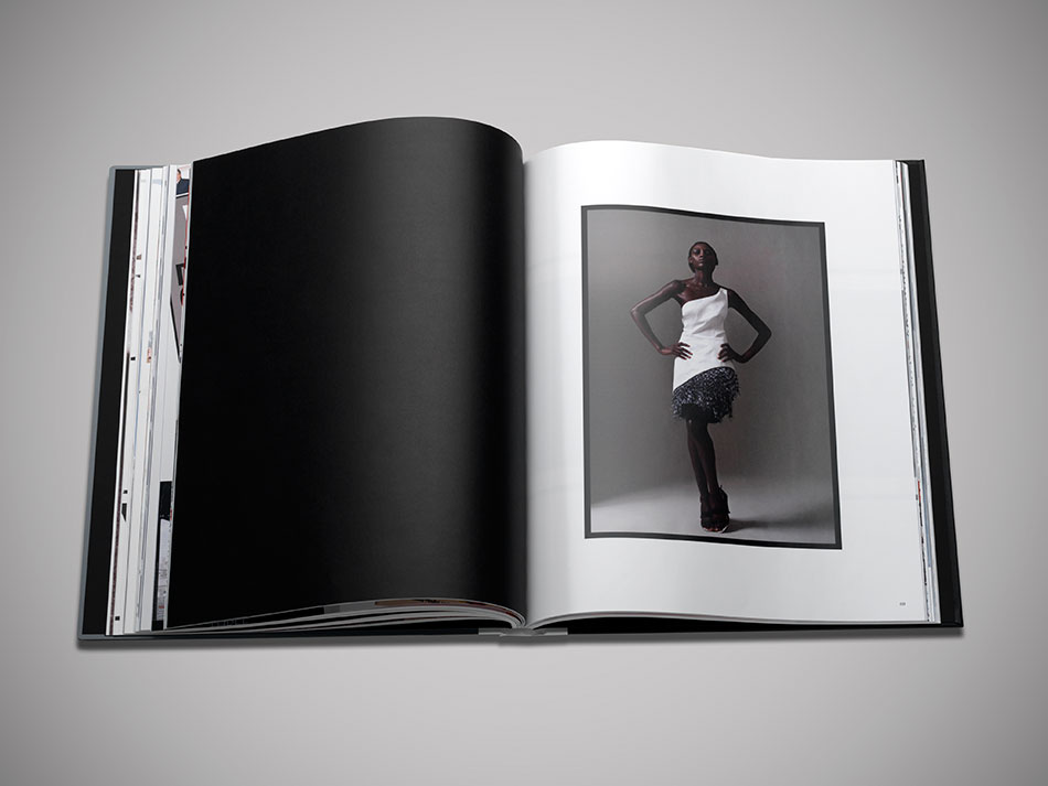 Model in Prabral Gurung for brand book designed by DTE.