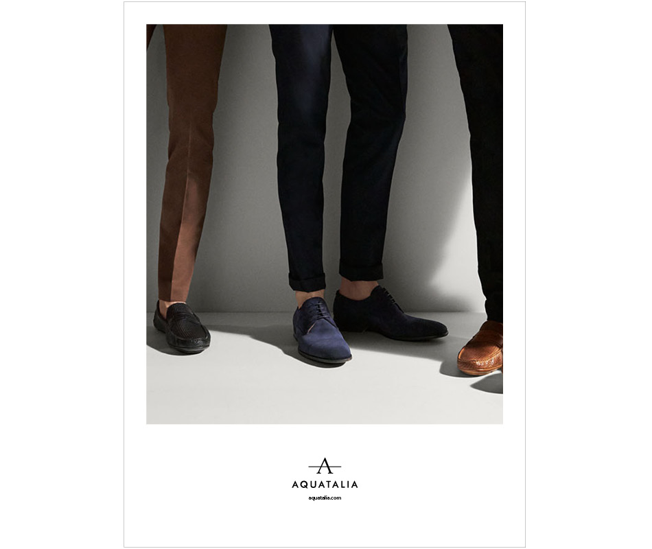 Campaign shot of models wearing Aquatalia shot by Tommy Ton and creative direction by DTE