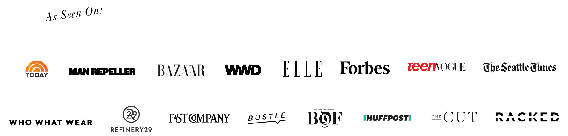 List of companies with press mentions for Universal Standard.
