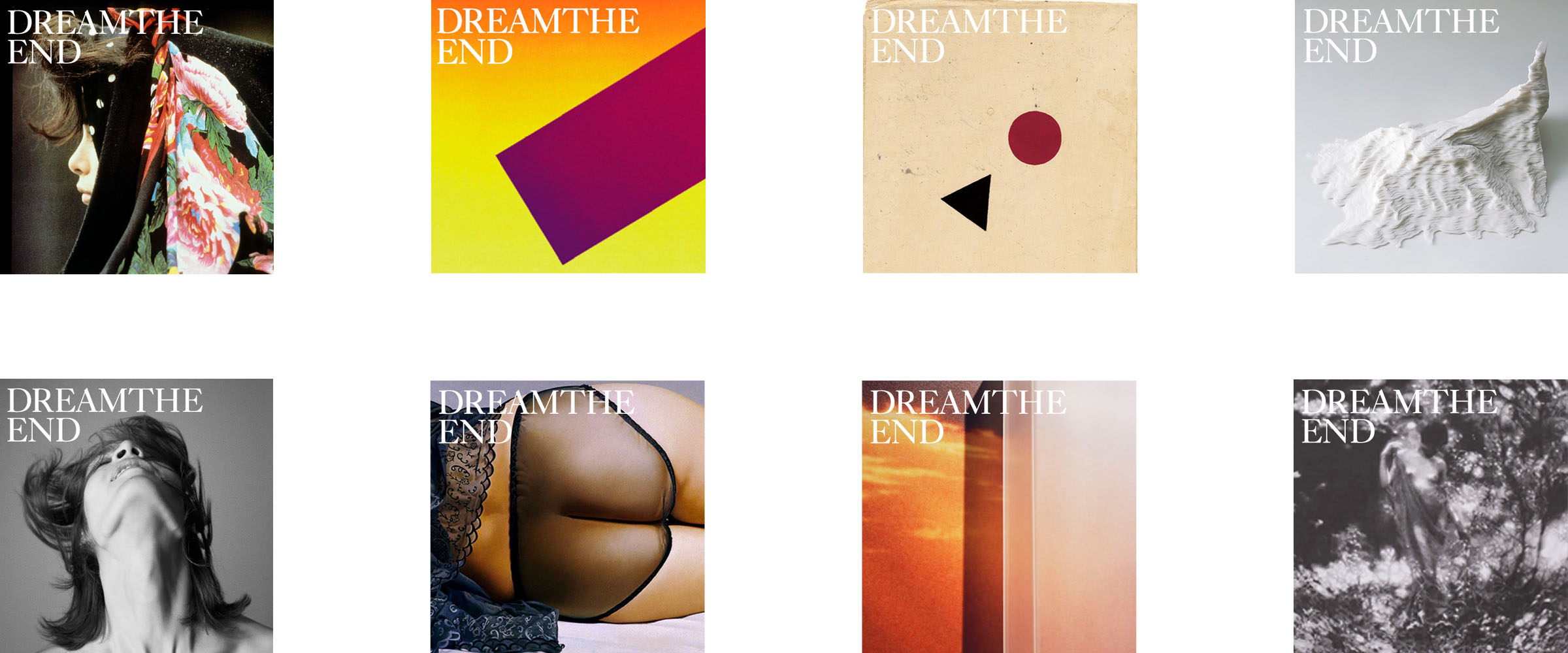 Different editions from the dream the end magazine publications.