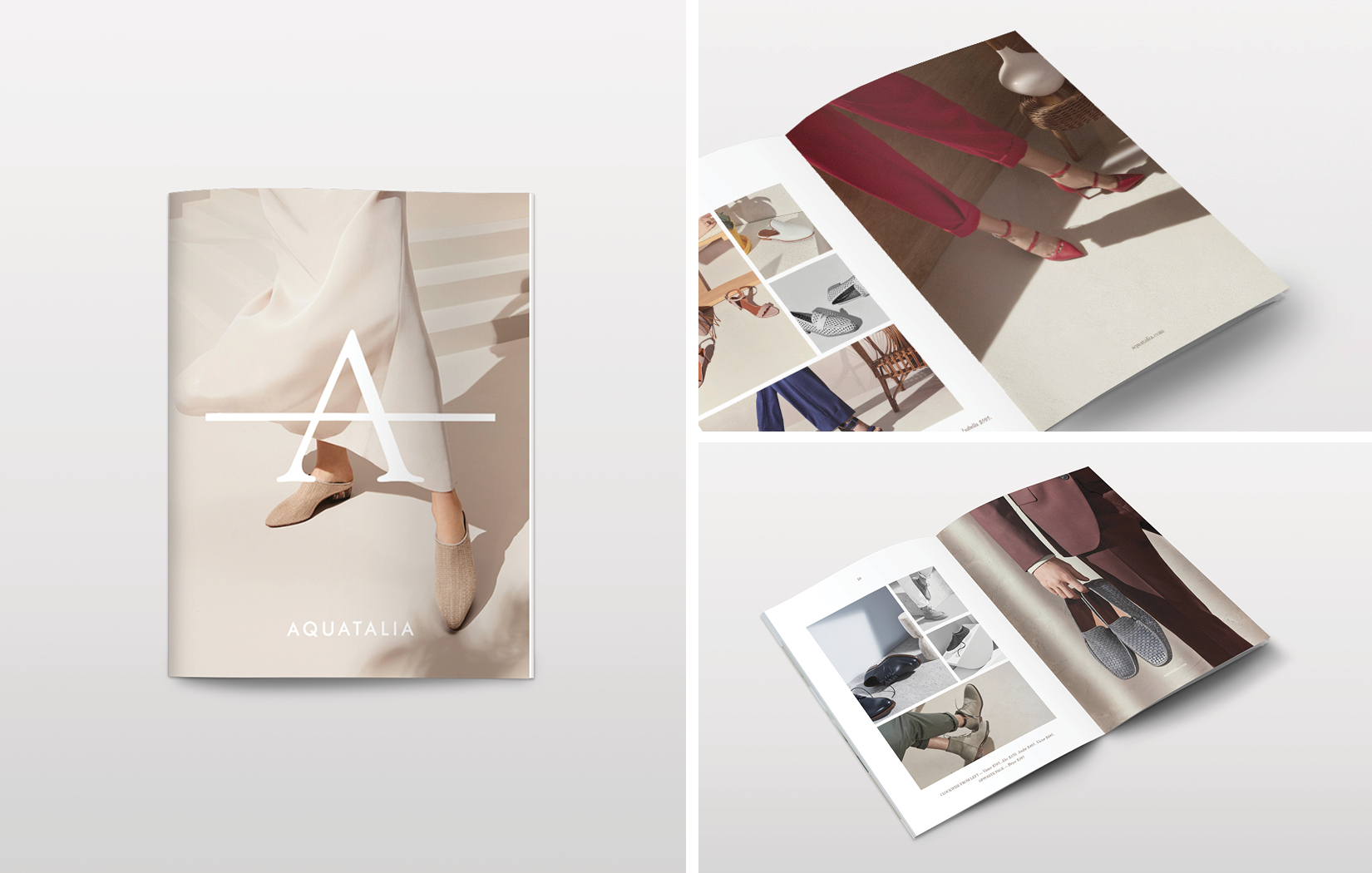 Modern and clean print campaign for Aquatalia by DTE.