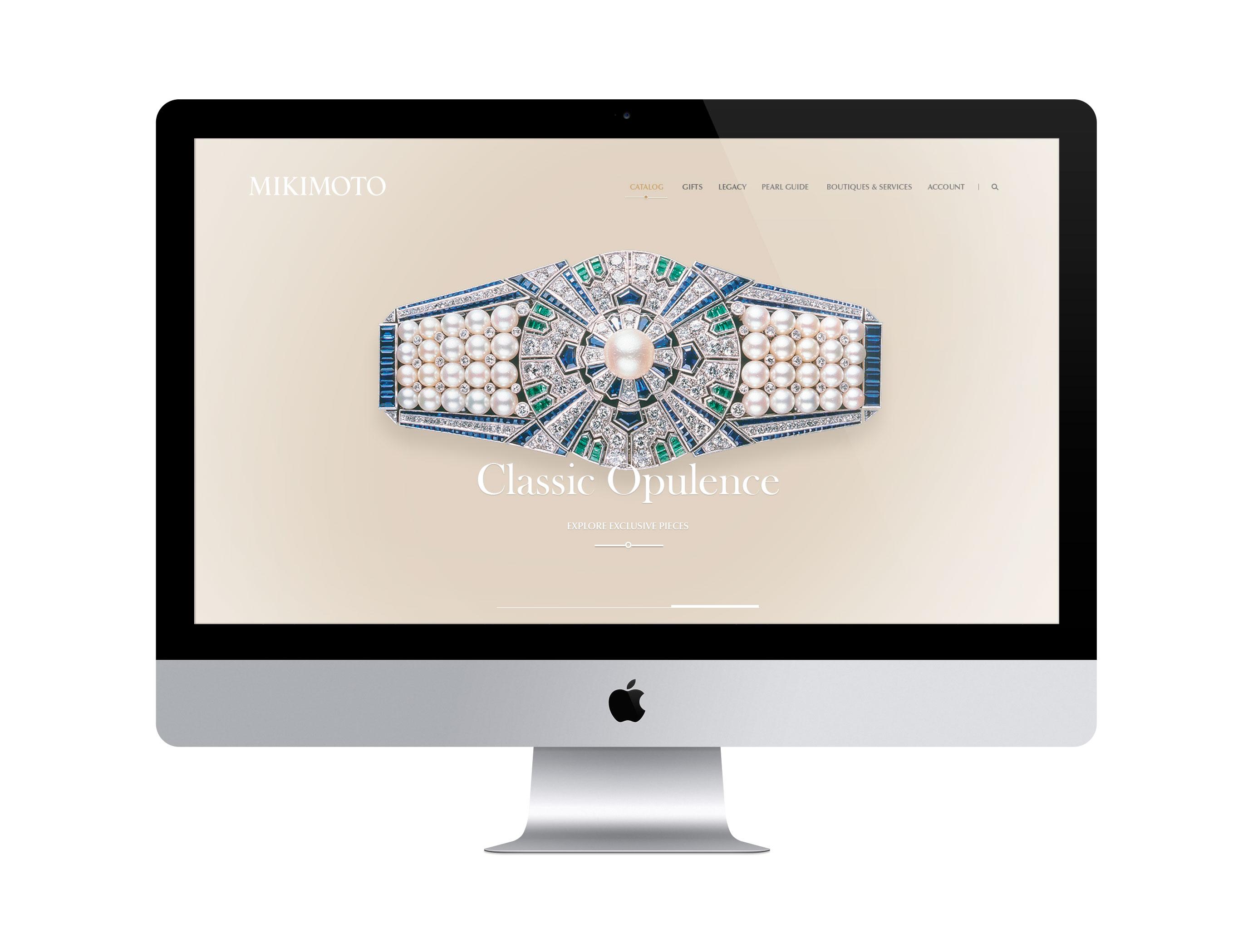 Mikimoto's digital presence renewed with elegant sophistication by DTE