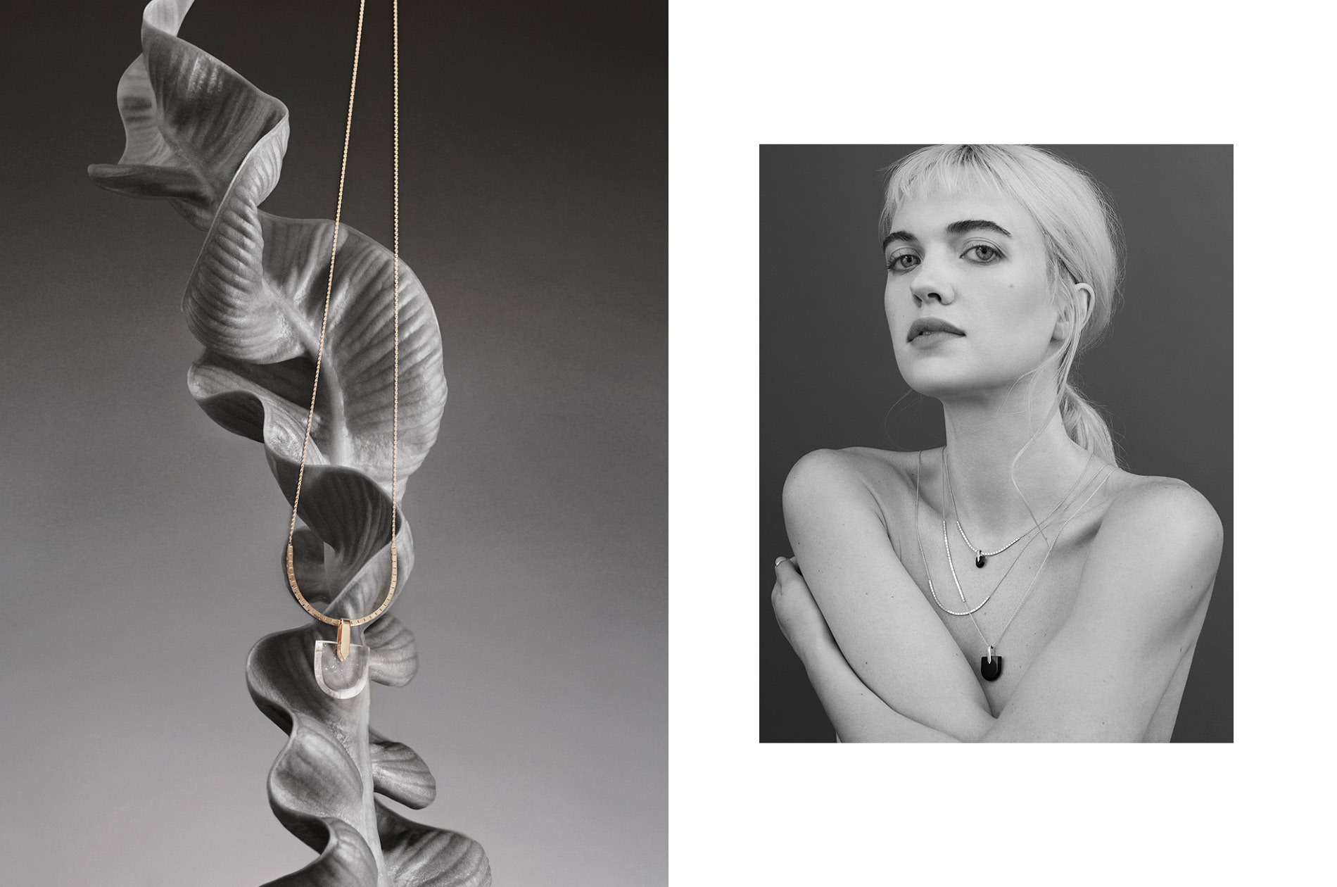 Bliss Lau jewelry collection shot in DTE's in-house studio.