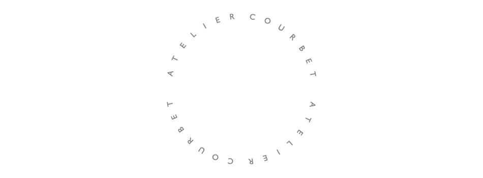 Custom logo mark for Atelier Courbet designed by DTE Studio.