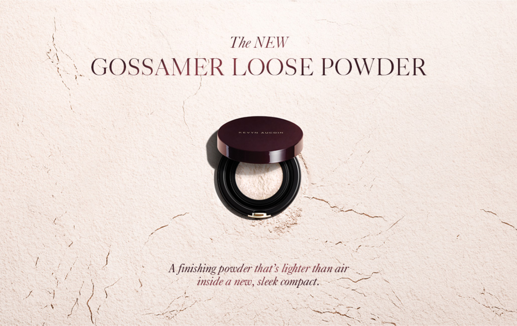 Gossamer loose powder by Kevyn Aucoin designed and packaged by DTE Studio
