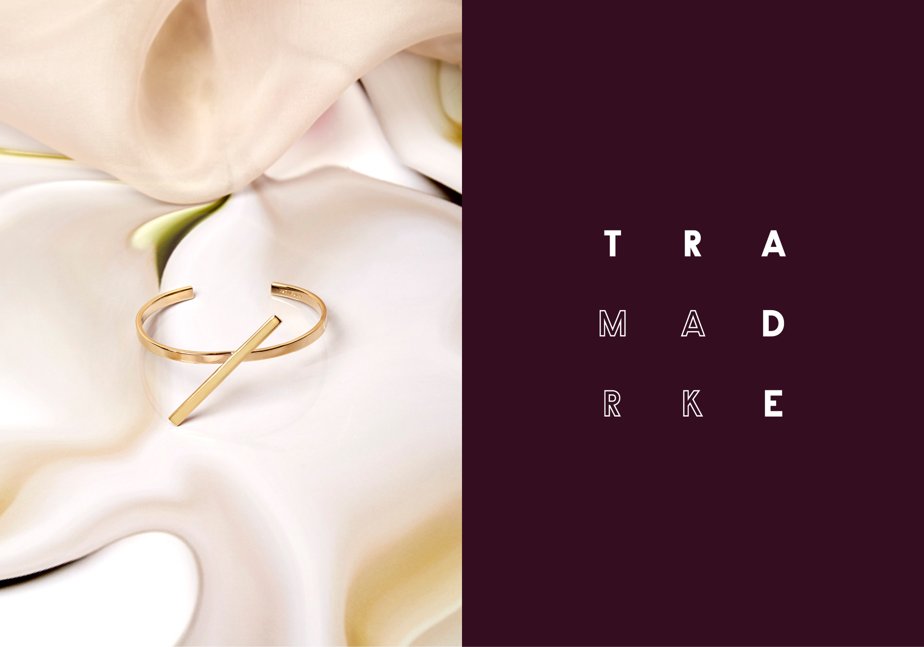 Trademark jewelry still life image shot by DTE Studio.