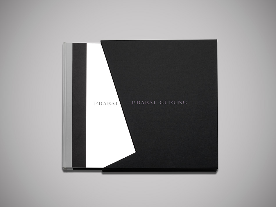 Modern black and white design of luxury fashion brand Prabal Gurung by DTE