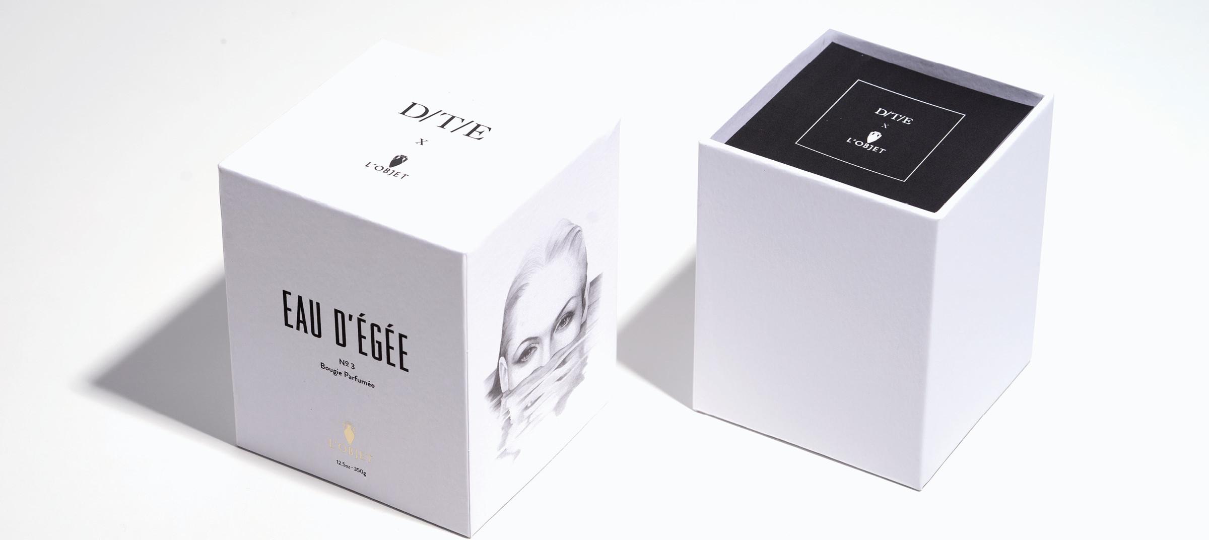 DTE's collaboration with L'Objet for perfume Eau d'Egée
