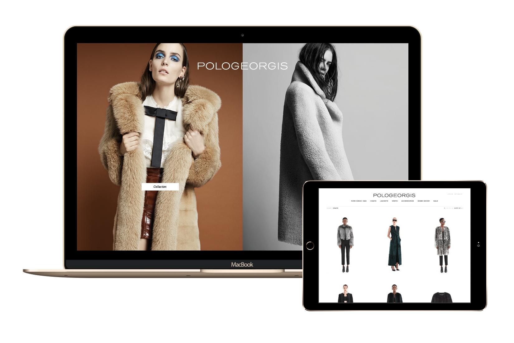 2016 online e-commerce website for Pologeorgis by DTE Studio.