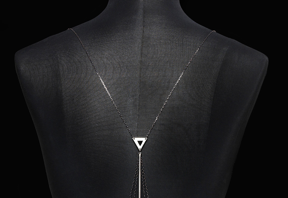 Close up with Ray of Moon, a limited edition fine jewelry body chain by Bliss Lau.