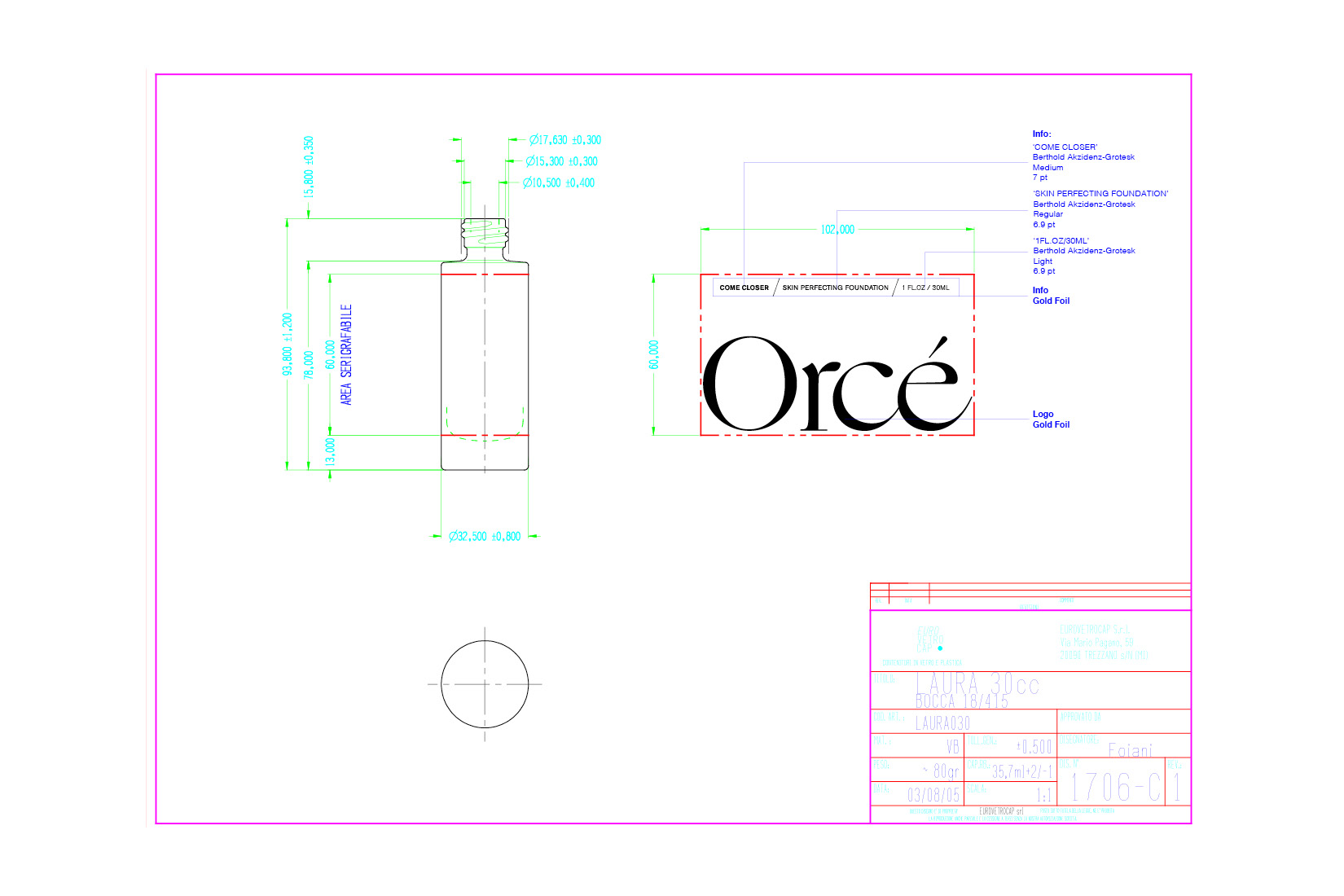 The package and design for Orce's brand that was created and designed by DTE studio.