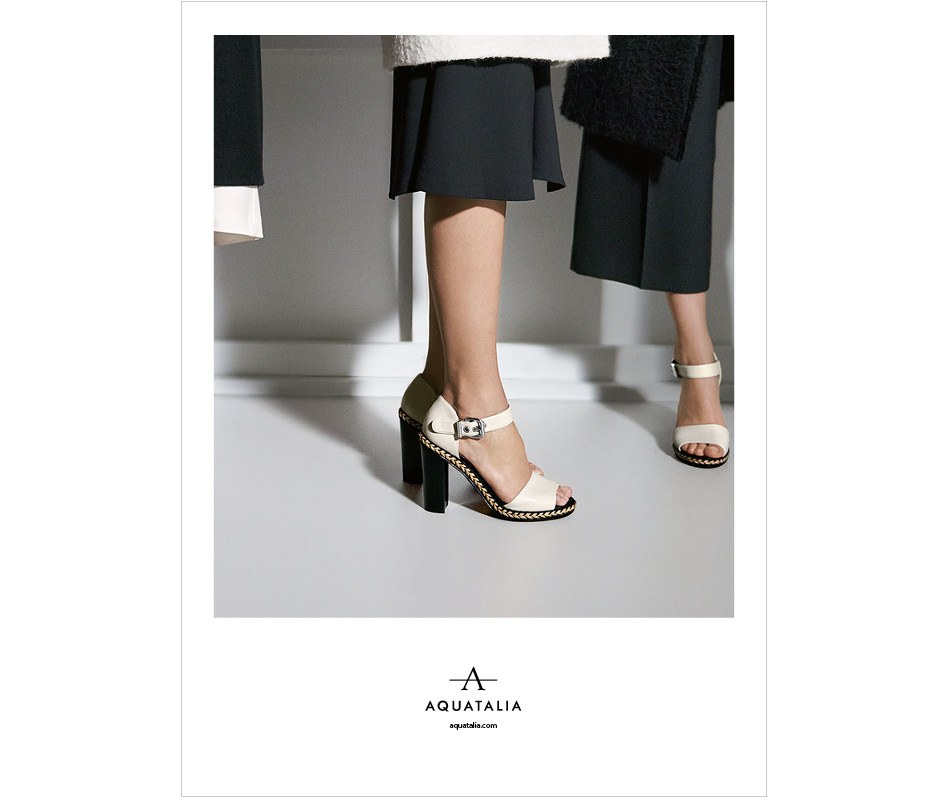 A pair of heels from the Aquatalia spring 2016 campaign.