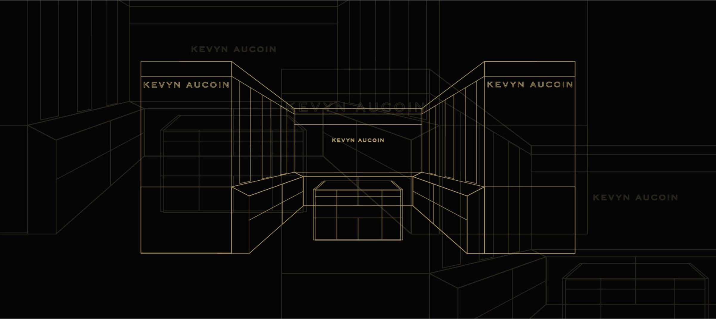 Kevyn Aucoin store mock-up by DTE Studio