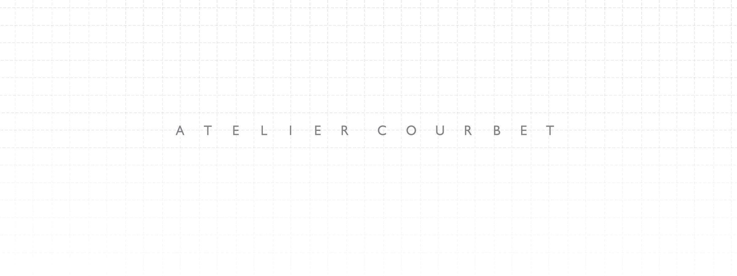 Elegant logo designed by DTE studio for Atelier Courbet.