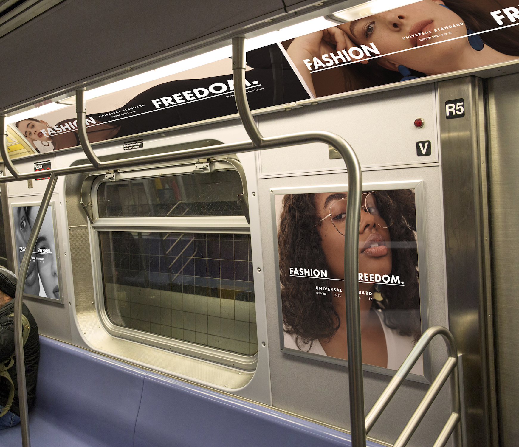 Universal Standard's campaign in New York City subways.