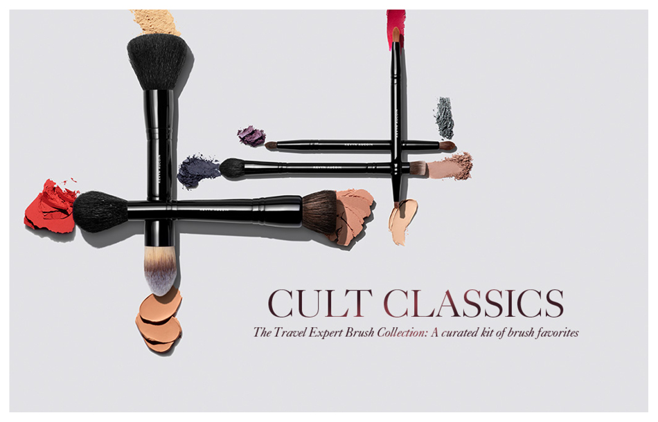 Kevyn Aucoin's travel brush collection.