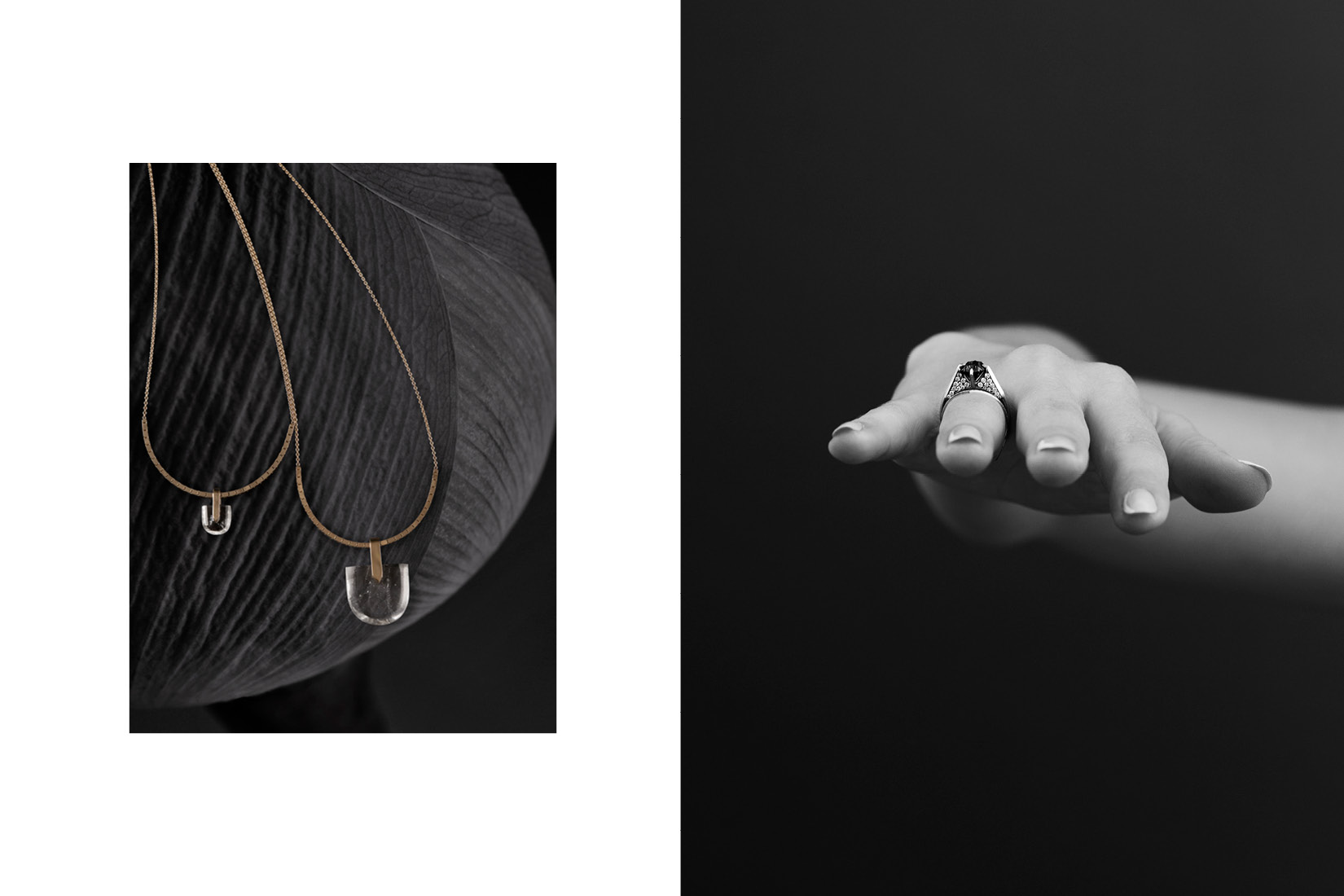 Jewelry for Bliss Lau's life collection, shot by DTE in our in-house studio.