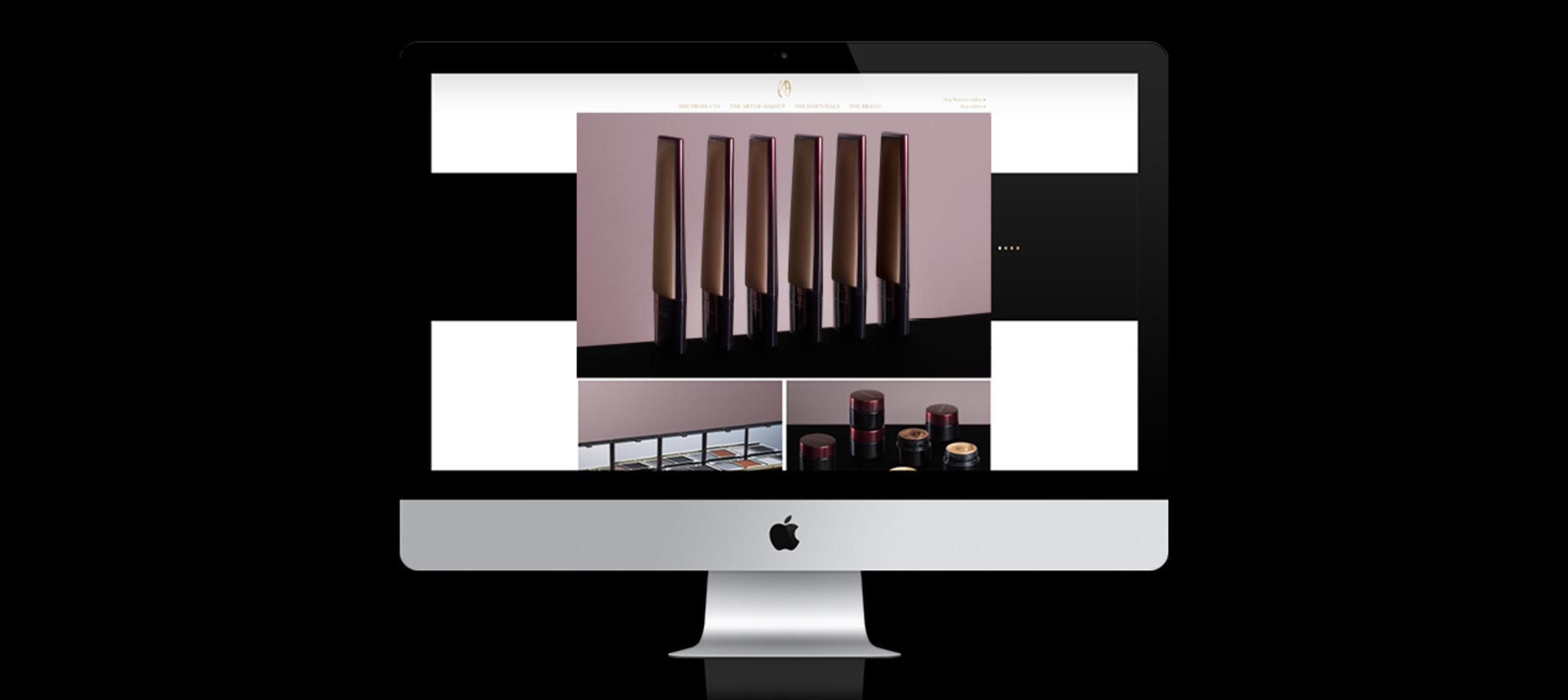 Kevyn Aucoin's product on brand website with flexible formats and custom CMS by DTE Studio