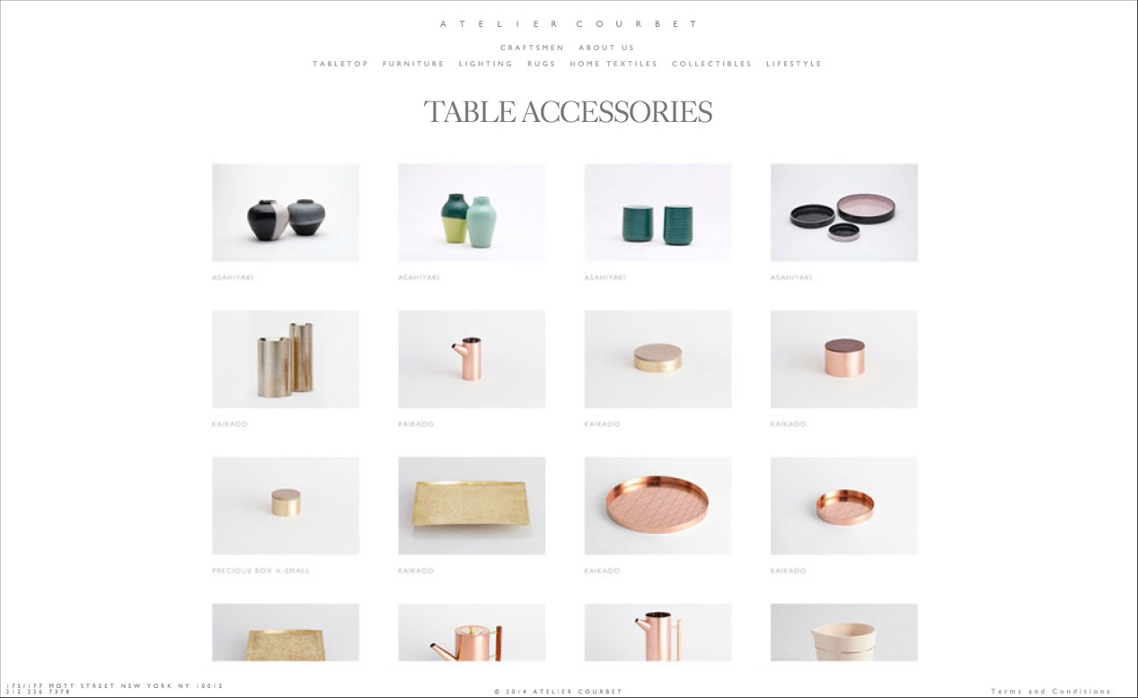 DTE studio designed a custom website for Atelier Courbet.