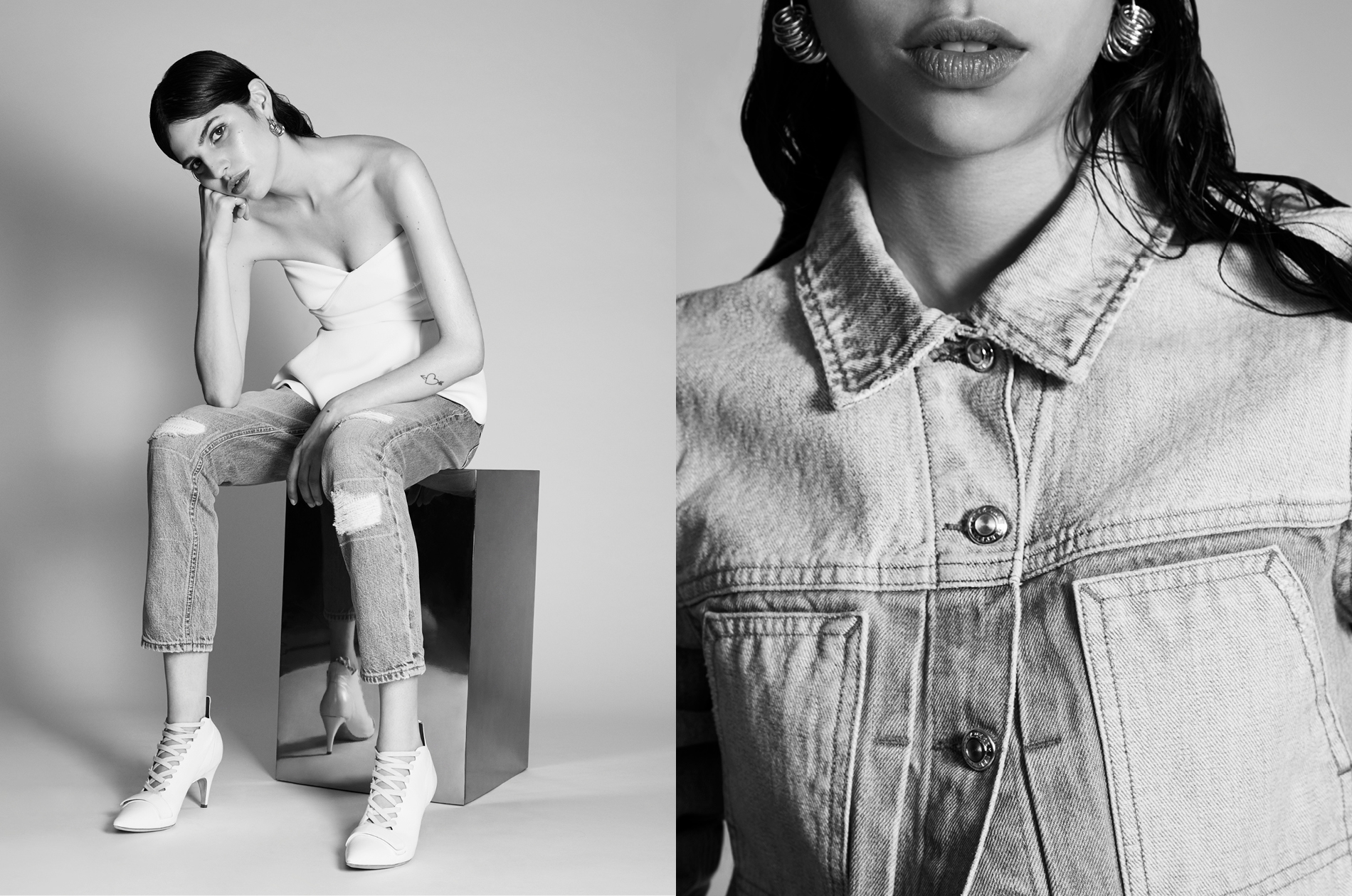 Derek Lam denim collection shot in DTE's in-house studio.