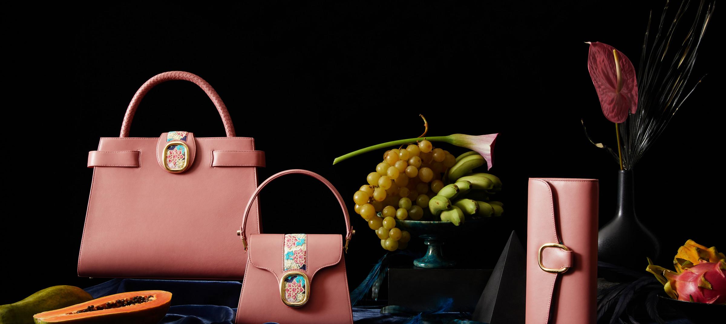 Luxury handbags captured by DTE in their in-house studio.