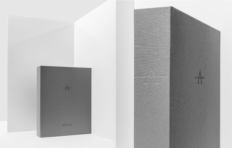 Aquatalia packaging that was designed by DTE Studio.