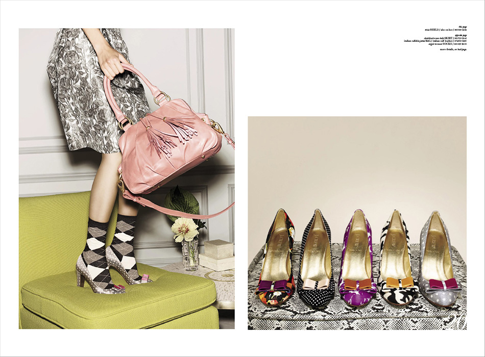 A selection of J.Crew shoes and handbags photographed by DTE Studio.