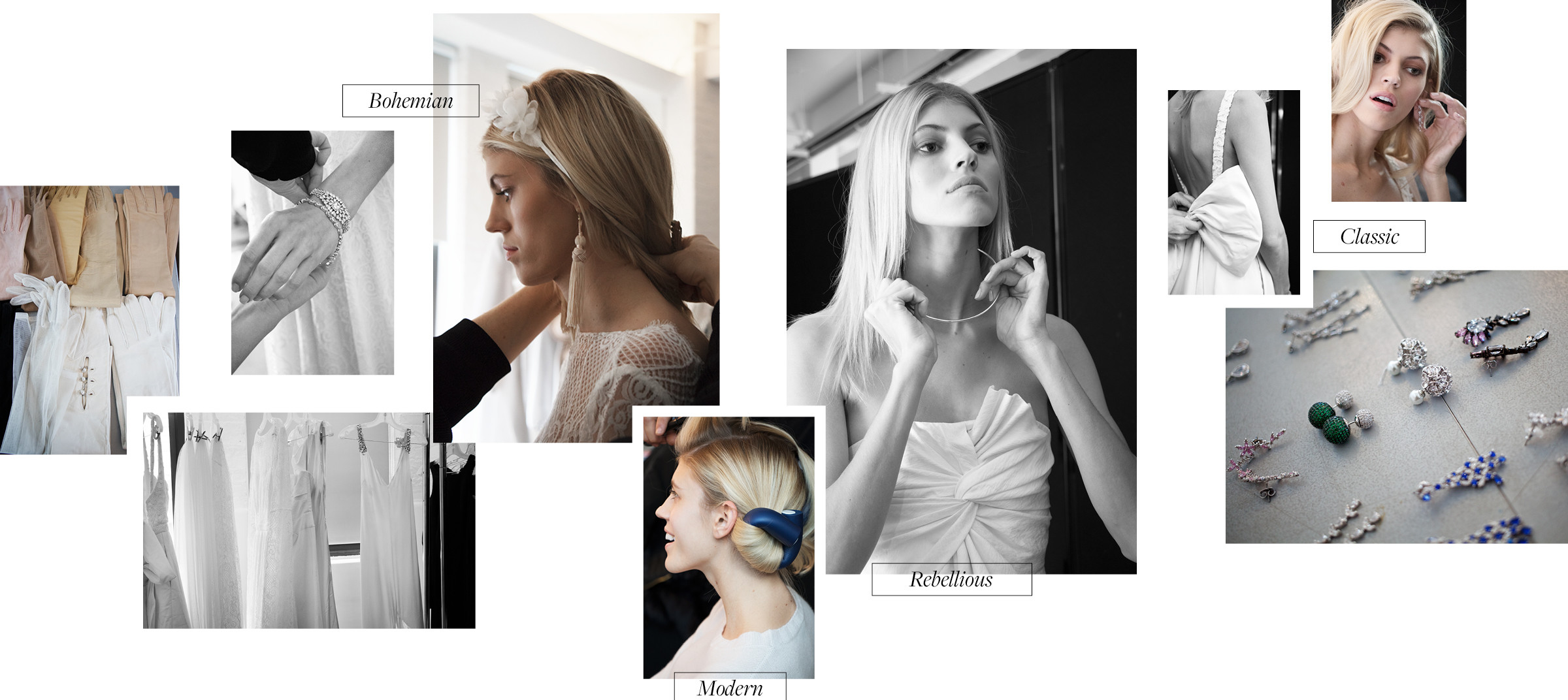Behind the scenes image collage of photoshoot with creative direction by DTE studio