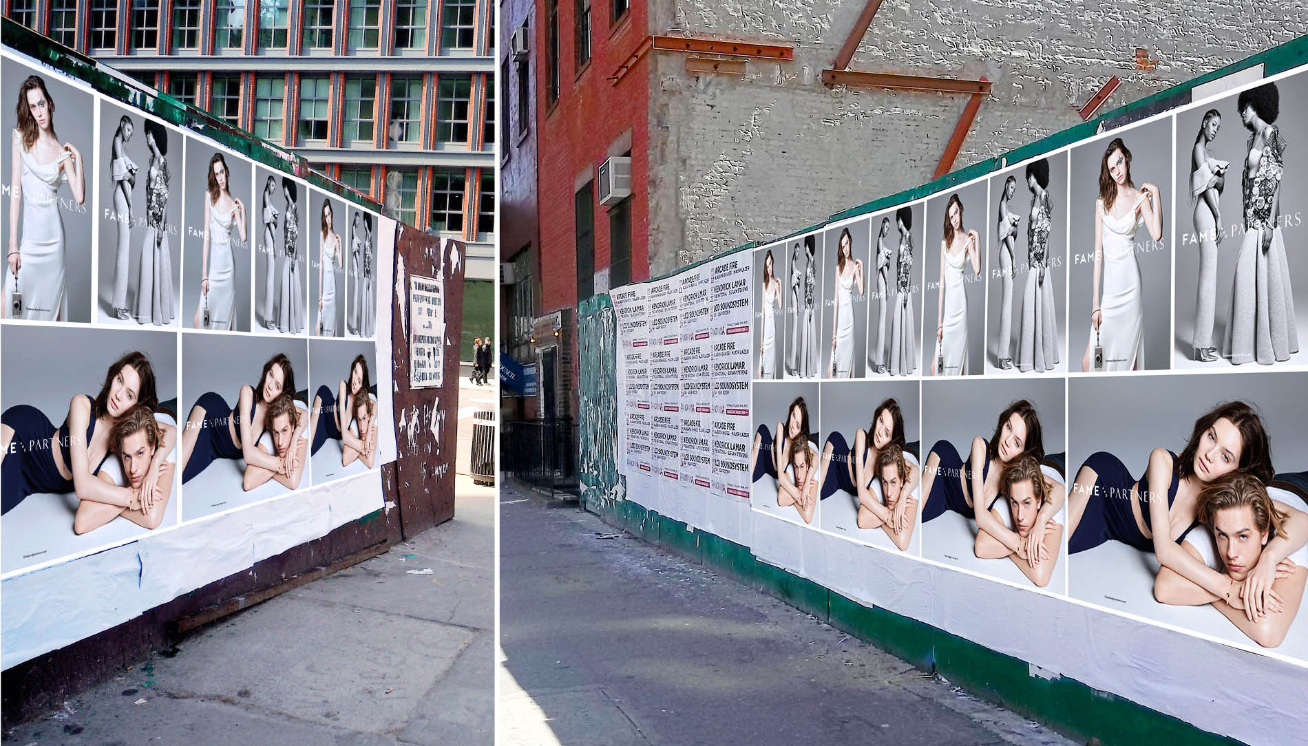 Wild postings of Fame and Partners' print campaign by DTE in the streets of New York