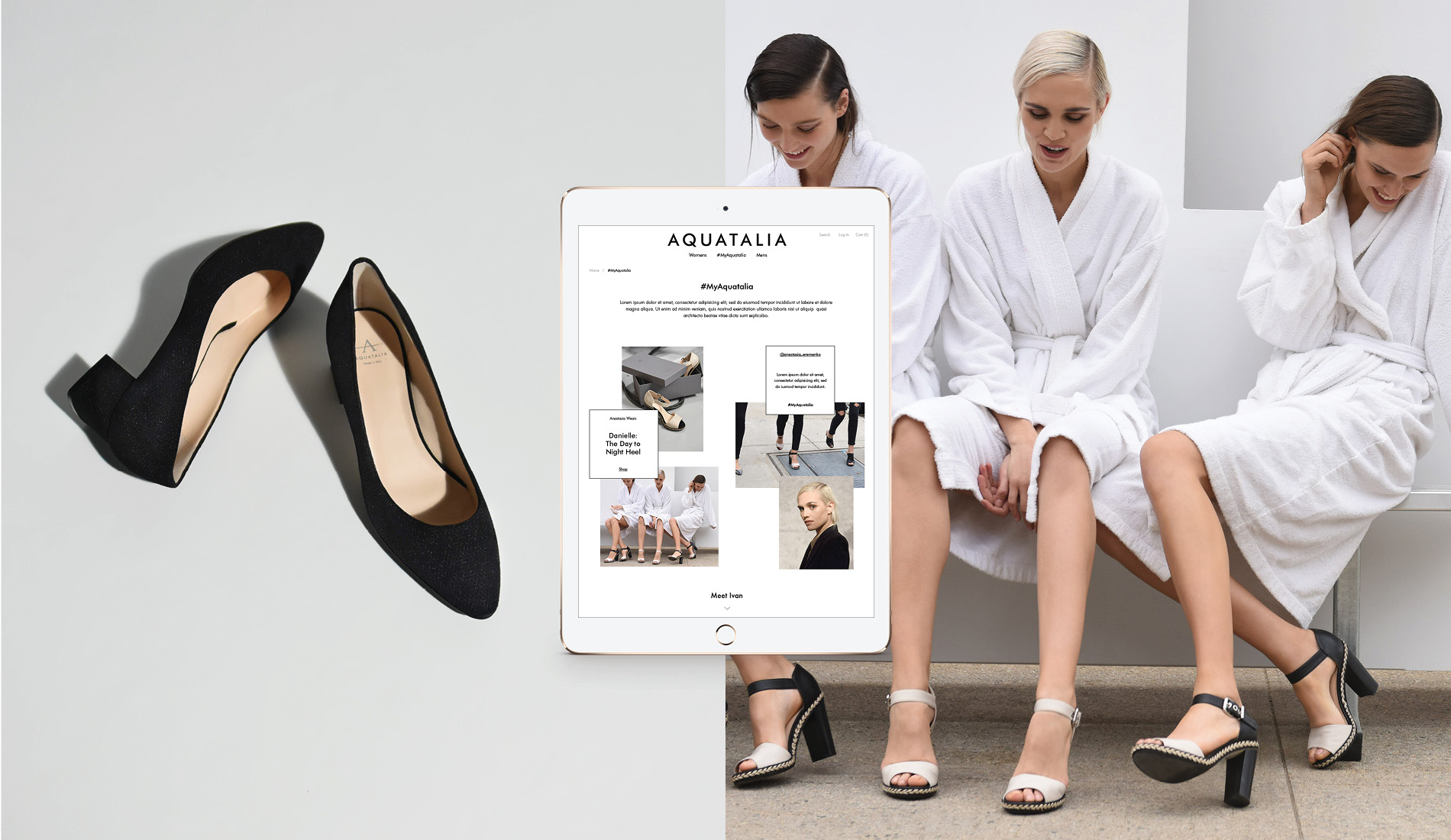 Models in Aquatalia shoes featured in #MyAquatalia social campaign by DTE.