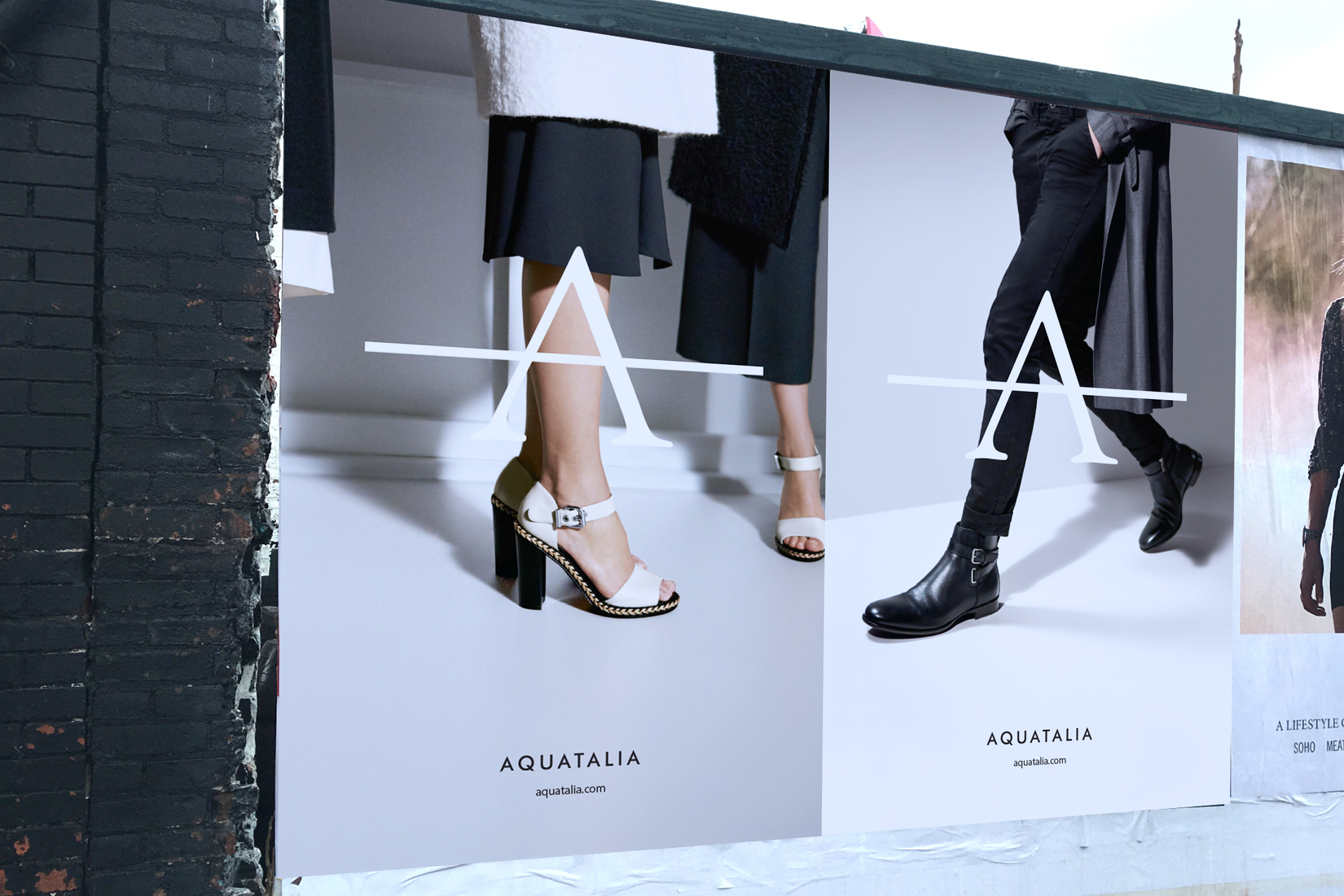 Aquatalia's advertising campaign shot by DTE in the streets of New York.